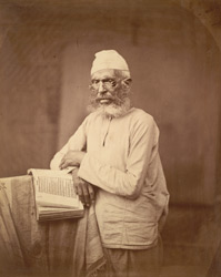 Scholar with book, Eastern Bengal.
